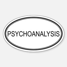 PSYCHOANALYSIS Oval Decal