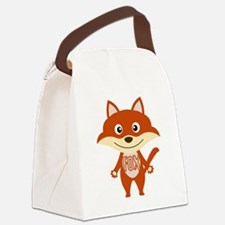 Red Fox Canvas Lunch Bag