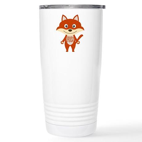 Red Fox Stainless Steel Travel Mug