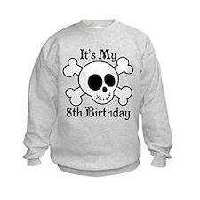8th Birthday Pirate Skull Sweatshirt