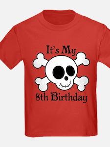 8th Birthday Pirate Skull T