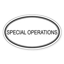 SPECIAL OPERATIONS Oval Decal