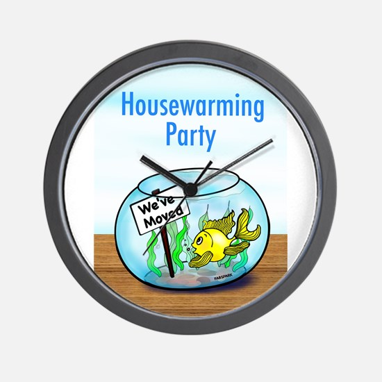 We Moved housewarming party Wall Clock