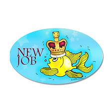 New Job cute fish crown Wall Decal