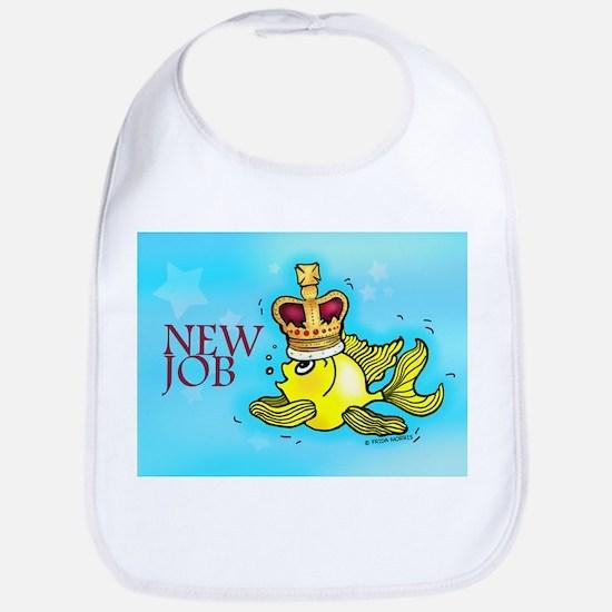 New Job cute fish crown Bib