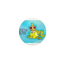 New Job cute fish crown Mini Button