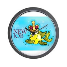 New Job cute fish crown Wall Clock
