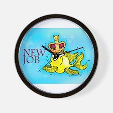 New Job cute fish crown Wall Clock