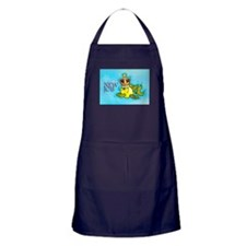 New Job cute fish crown Apron (dark)