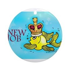 New Job cute fish crown Ornament (Round)