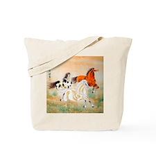 Vintage Oriental Art - Horses Tote Bag
