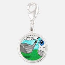 Keep Your Eye on the Ball Silver Round Charm