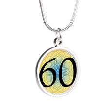 60th Birthday Party For Her Silver Round Necklace