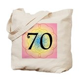 70th birthday party Canvas Bags