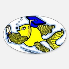Graduate fish Decal
