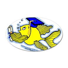 Graduate fish Wall Decal