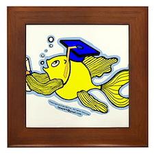 Graduate fish Framed Tile