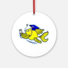 Graduate fish Ornament (Round)