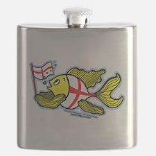 English Flag Fish Flask