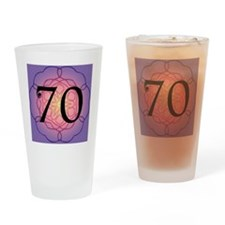 70th Birthday Party For Her Drinking Glass