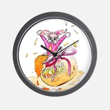 HoneyBunny Honey Bunny Wall Clock