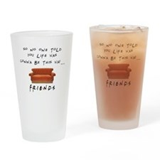 Awesome Unique F.R.I.E.N.D.S TShirt Drinking Glass