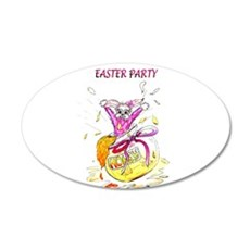 Honey Bunny Easter Party invitation Wall Decal