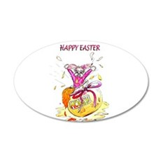 Honey Bunny Happy Easter Wall Decal