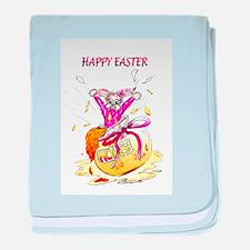 Honey Bunny Happy Easter baby blanket