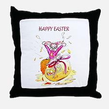 Honey Bunny Happy Easter Throw Pillow