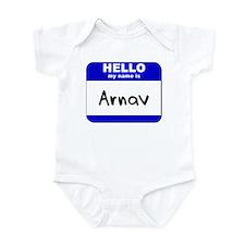 hello my name is arnav  Infant Bodysuit