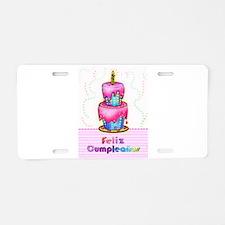 Birthday Cake feliz cumpleanos Aluminum License Pl