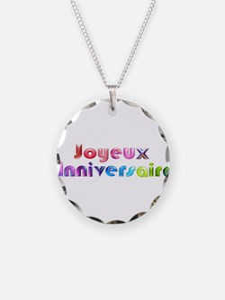 Joyeux Anniversaire French Happy Birthday Necklace