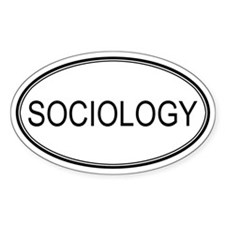 SOCIOLOGY Oval Decal