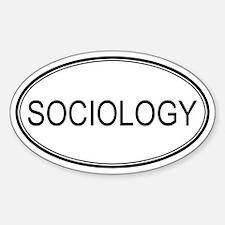SOCIOLOGY Oval Decal