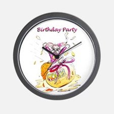 Honey Bunny - Birthday Party Invitation Wall Clock