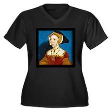 Jane Seymour Women's Plus Size V-Neck Dark T-Shirt