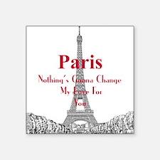 """Paris Square Sticker 3"""" x 3"""""""