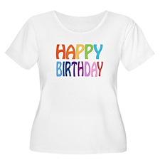 Happy B-Day Women's Scoop Neck Plus Size T-Shirt