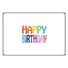 Happy Birthday - Happy Colourful Greeting Banner