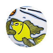 Fish Playing Basketball, Basketball Fish Ornament