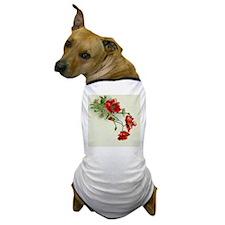Beautiful Red Flowers Dog T-Shirt
