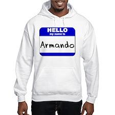 hello my name is armando Hoodie
