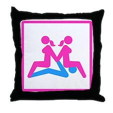 Kamasutra - Menage a Trois (FMF) Throw Pillow