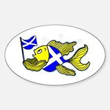 Scotish Flag Fish Decal