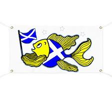 Scotish Flag Fish Banner