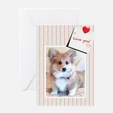 Corgi Puppy Valentine Greeting Cards