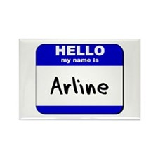 hello my name is arline Rectangle Magnet