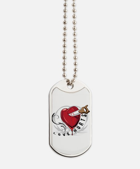 Love Hurts with Saw Dog Tags