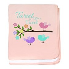 Tweet Tweet Cute Birds Baby Blanket